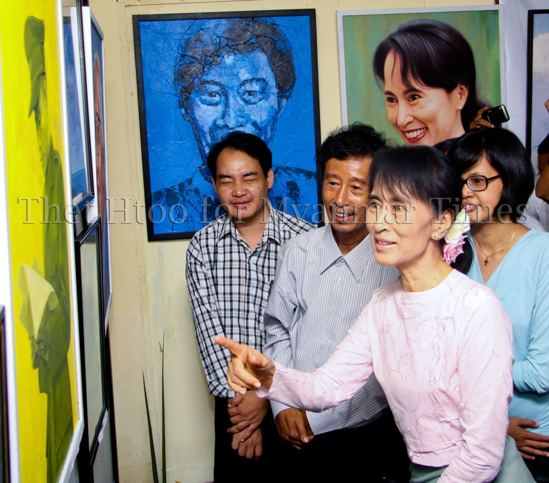 Aung San Suu Kyi, Art Exhibition