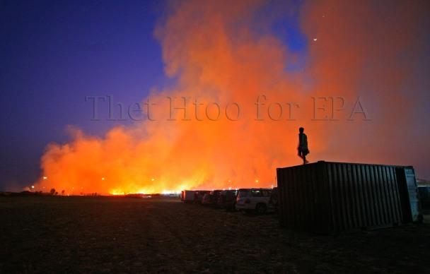 Thilawa fire